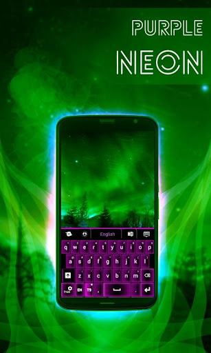 無料个人化Appの紫色のネオンのキーボード|記事Game