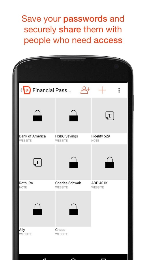 Mustbin – Your Mobile Vault- screenshot