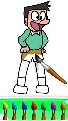 Superhero Nobita Coloring Pages For Kids screenshot 3