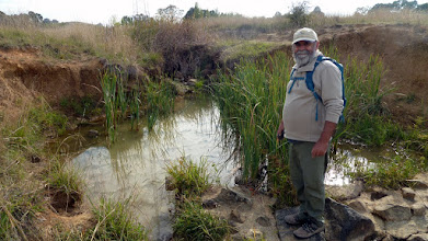 "Photo: Drew at ""his pond"" on Gungaderra Ck Kaleen. He hopes to establish a mosquito breeding swamp. Wot!!!! No a pond really"