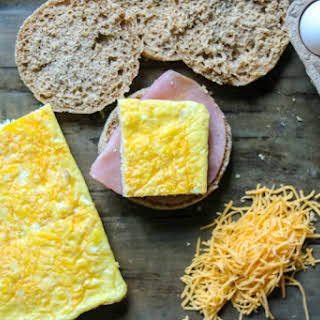 Healthy Homemade Egg McMuffin Sandwiches.