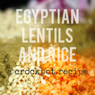 Egyptian Lentils and Rice. Recipe
