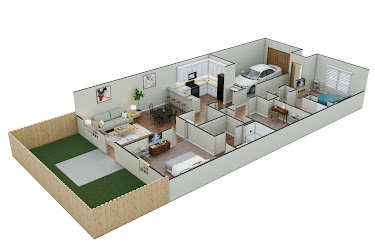 Two Bed, Two Bath with Garage + Study