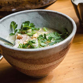 Vietnamese Chicken Rice Soup.