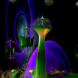 Future World by Rick Eskridge - Illustration Sci Fi & Fantasy ( fantasy, mb3d, jwildfire, fractal, twisted brush )