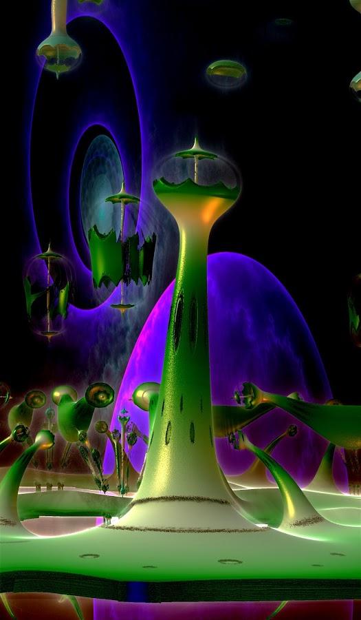 Future World by Rick Eskridge - Illustration Sci Fi & Fantasy ( fantasy, mb3d, jwildfire, fractal, twisted brush )