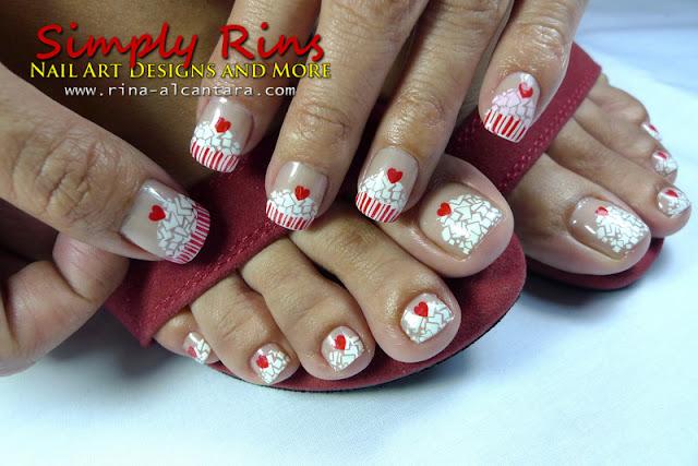Konad cupcake nail art