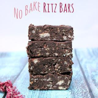 No Bake Dark Chocolate Ritz Bars