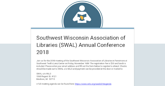 Southwest Wisconsin Association of Libraries (SWAL) Annual Conference 2018