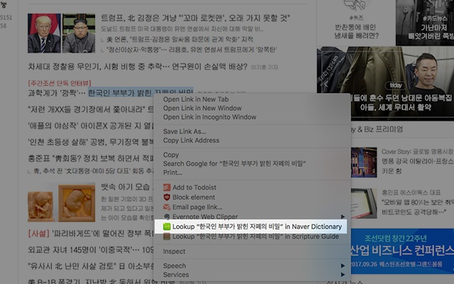 naver korean english dictionary lookup chrome web store