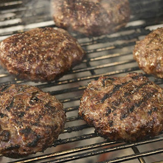 Grilled Basil Beef and Turkey Burgers.