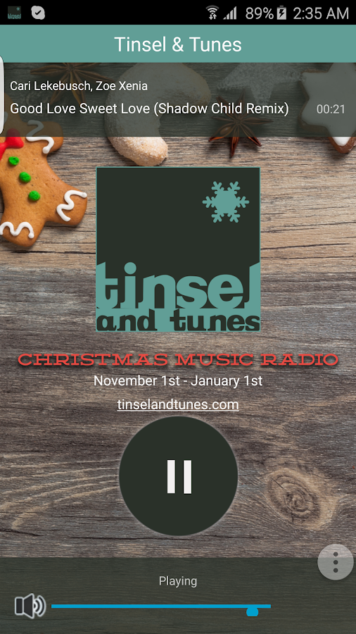 Tinsel & Tunes Christmas Music- screenshot