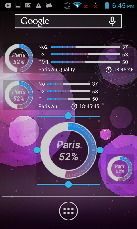 Paris Air Quality- screenshot