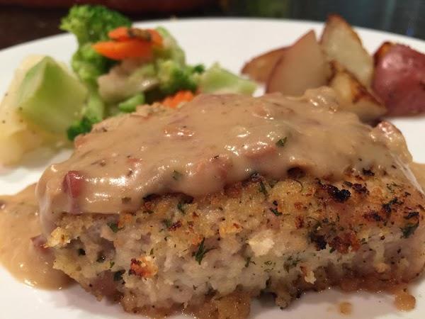 Panko Pork Chops With Creamy Gravy Recipe