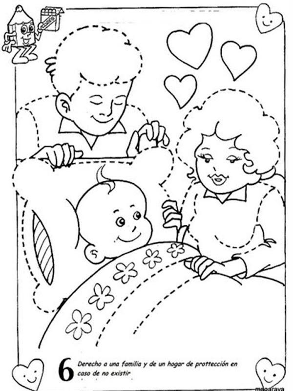 Pinto dibujos derecho a una familia para colorear - Familias en blanco y negro ...