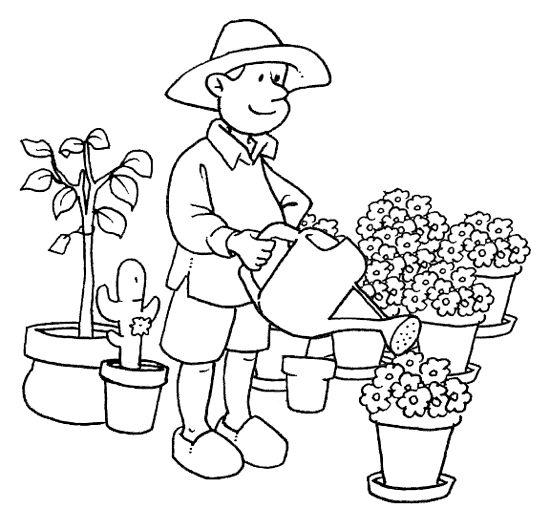 Dibujos Para Pintar Oficio Jardinero