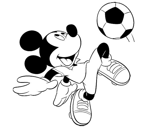 mickey mouse playing soccer coloring pages. Black Bedroom Furniture Sets. Home Design Ideas