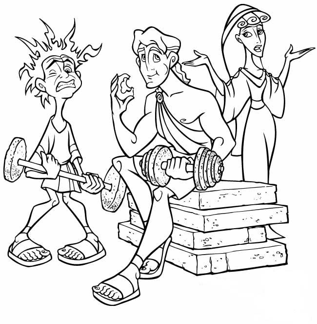 Young hercules coloring pages title=