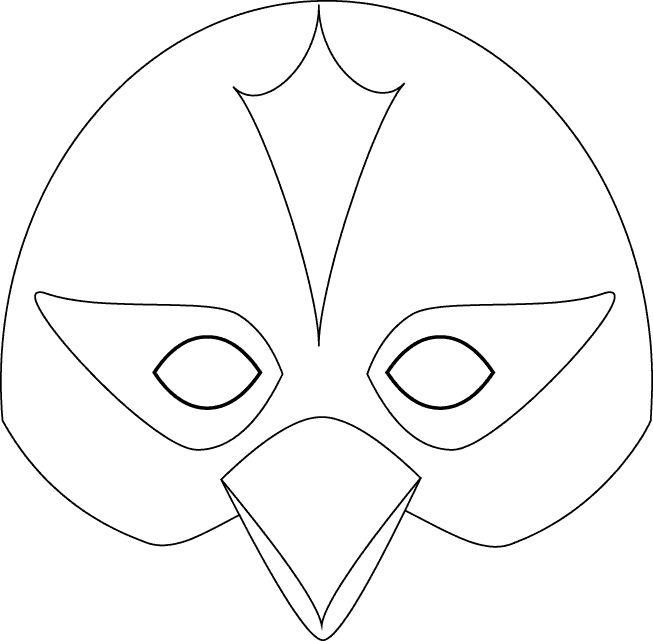 Pinto Dibujos: Antifaz de pájaro para colorear