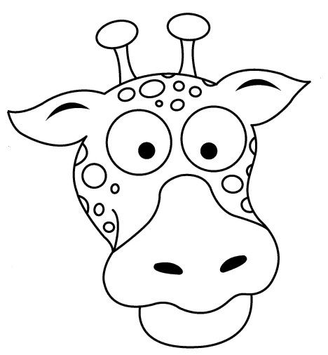 Giraffe Mask Coloring Pages
