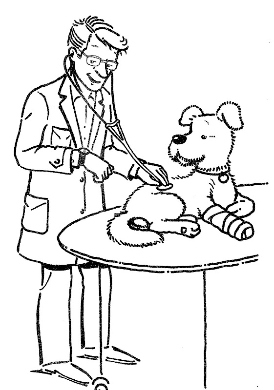 Vet - Free coloring pages title=