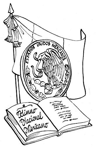 Pinto Dibujos: Simbolos patrios mexicanos para colorear