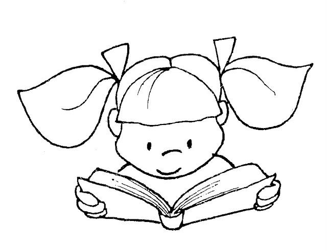 Dibujo De Lecturas De Colegio Para Colorear: Pinto Dibujos: Imágenes De Lectura Para Colorear