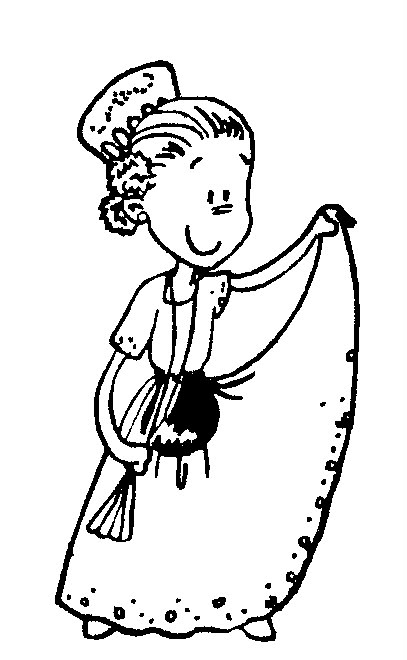 Mexico Traditional Dress Coloring Page