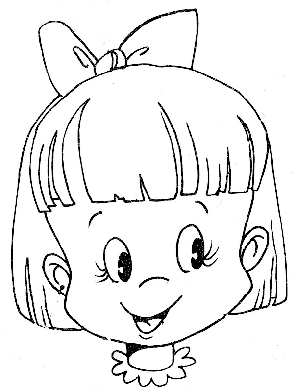coloring pages of dolls faces - photo#11