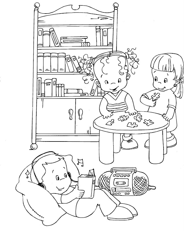 coloring pages children reading. Labels: Kids