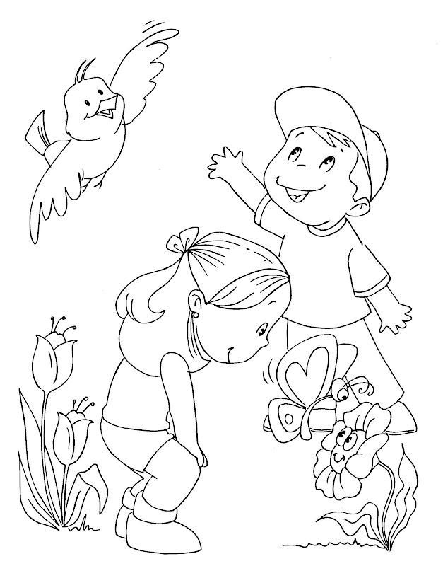 Pinto Dibujos: Inicia la primavera para colorear