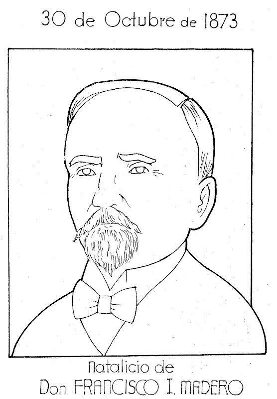 Pinto Dibujos Francisco I Madero Para Colorear
