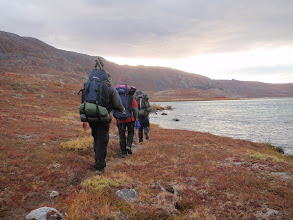 Photo: Greenland - Approaching the Canoe Centre at the end of Day 2