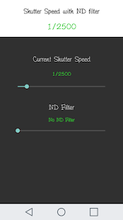 ND Filter Calculator Pro - náhled