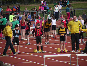 Photo: Jack Ryan, Moycarkey Coolcroo A.C. before the Boys U/12 Hurdles Final at Leevale Open Sports 2012