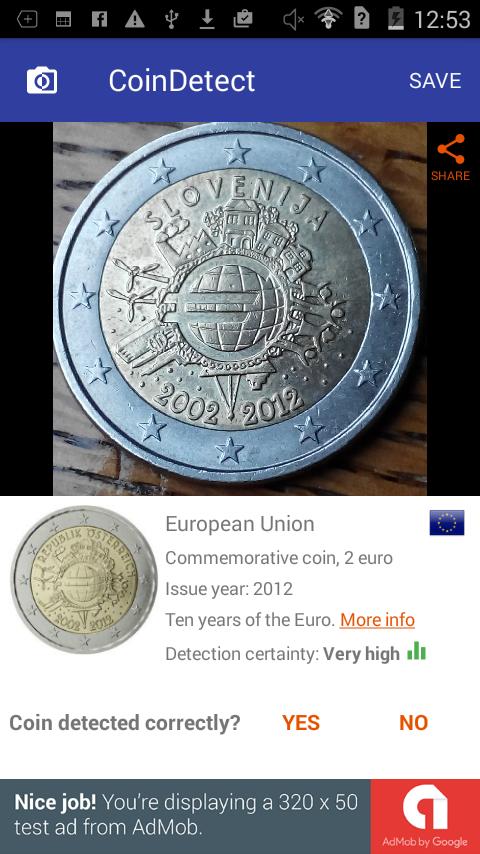 Coin identifier app - Wish coin remix 2018