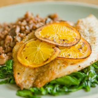 Broiled Fish with Shiitake Red Rice Pilaf.