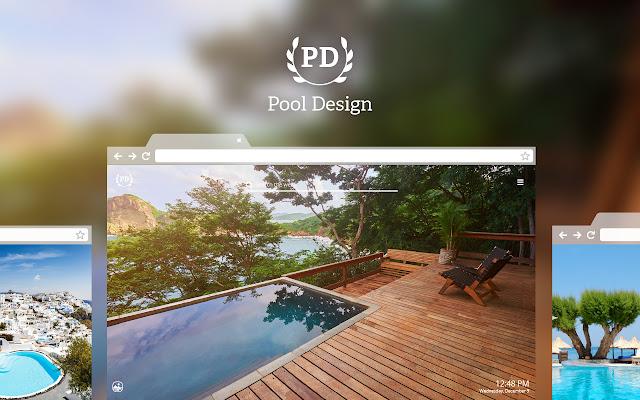 Pool Design HD Wallpaper New Tab Theme