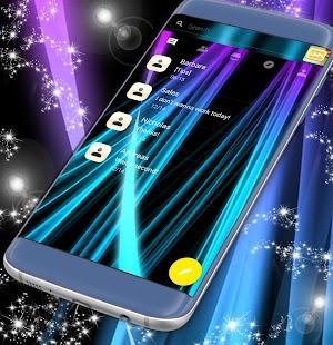 Neon SMS téma - náhled
