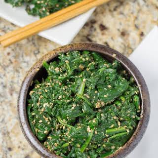 Gomae (Japanese Spinach Salad).