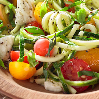 Caprese Zucchini Noodle Salad Recipe