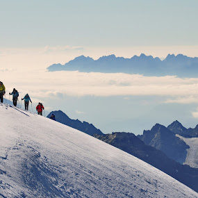 To the Alps by Zoran Stanko - Landscapes Mountains & Hills ( ice, snow, landscape, people, zoran stanko, hiking, alps )