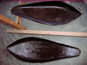 Photo: Both halves all glassed with 3 BID and sitting on the floor curing.