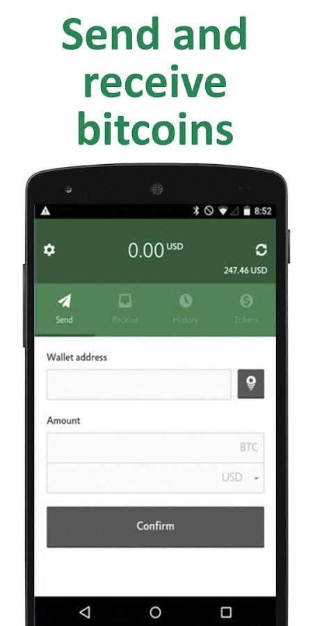 CoinSpace Bitcoin Wallet- screenshot