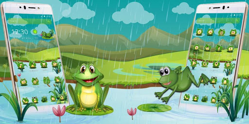 Cartoon Green Frog for PC
