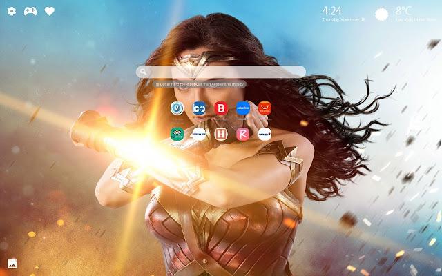 Wonder Woman HD Wallpaper New Tab