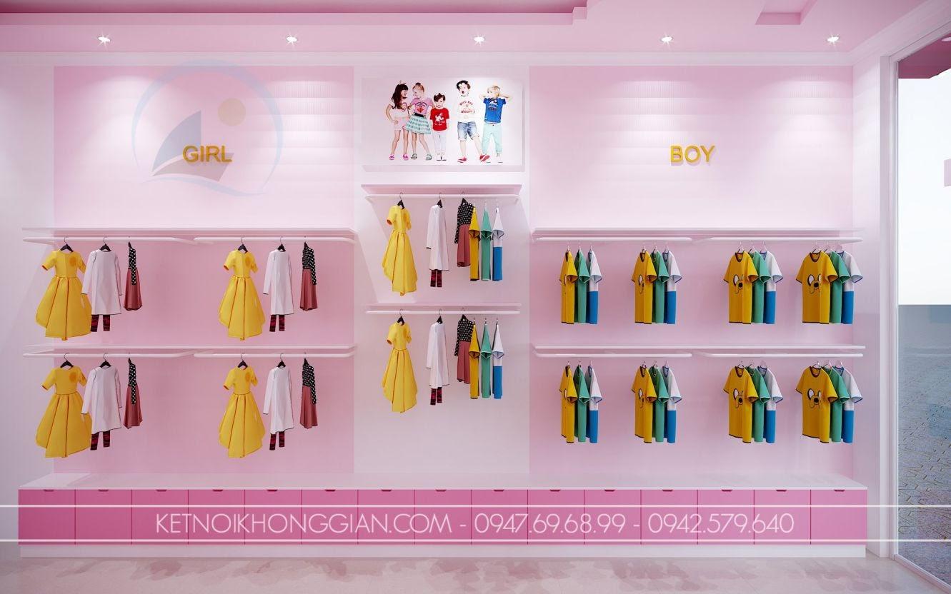 trang trí thiết kế shop quần áo trẻ em
