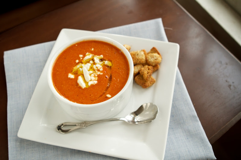 Roasted Red Pepper Soup | Naturally Ella