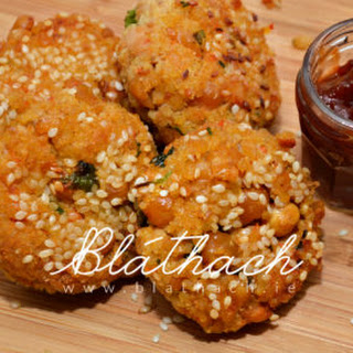 Millet and Chickpeas Patties.