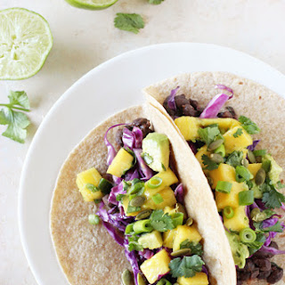 Smoky Black Bean Tacos with Mango Salsa